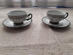 2 db antik kávéspohár