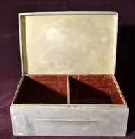 Ezüst névjegy - kártya doboz nagy méret