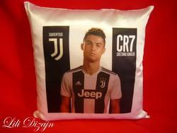 Cristiano Ronaldo CR7 Juventus 30x30cm párna