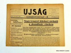 1940 április 9  /  UJSÁG  /  SZÜLETÉSNAPRA RÉGI EREDETI ÚJSÁG Szs.:  6791