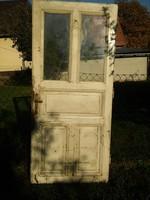 Antik fa ajtó réz kilinccsel zárral - pl. előszobafalnak.. - Közel az M0-áshoz