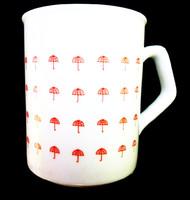 Zsolnay retró esernyős csésze