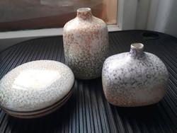 Ritka Drasche retró vázák és bonbontartó (3 db)