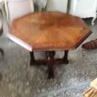 Antik XVI.Lajos asztal 7  szögletű,intarziás