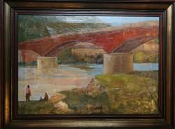 Duray Tibor: Pillérek alatt régi olajkép