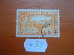 SIERRA LEONE 1'3 1SH. 3 P 1938 VI. King George - Rice Harvest H50
