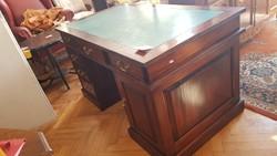 Mahagóni szekrényes íróasztal eladó
