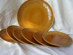 Süteményes tányérkészlet (7 db)