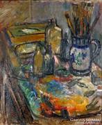 """Felsmann Tamás ( 1918-) """" Műteremrészlet """""""