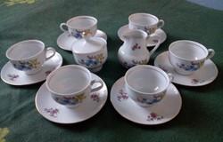 6 személyes  porcelán kávés vagy teás készlet
