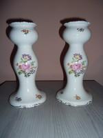Wallendorf porcelán gyertyatartó párban