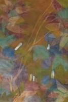 Illényi Tamara: Keleti virágok c. selyemakvarell (eredeti vietnami selyemre festett)
