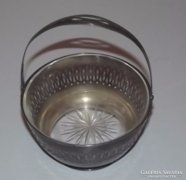 Ezüst klassszicizáló kínáló kosár 150 gr