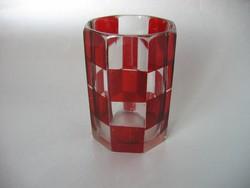Antik, bíborpácolt biedermeier pohár