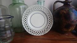 Áttört porcelán tányér, Alt wien 1812