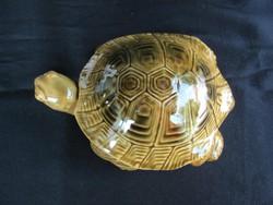 Kerámia ékszertartó teknős