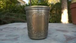Címerpajzsos ezüstözött keresztelőpohár