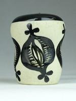 0T534 Kézi festett kazak kerámia sószóró