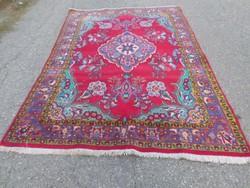 Antik Tebriz gyönyörű kézi csomózású gyapjú szőnyeg 243cmx172cm