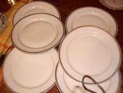 Aranycsíkos alfüldi lapos tányér 6 darab