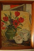 Horváth János Virágcsendélet festménye