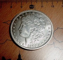 USA MORGAN EZÜST ONE DOLLAR 1879 CC