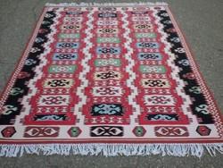 Kaukázusi Kilim gyönyörű és ritka kézi szövésű gyapjú szőnyeg 260cmx145cm