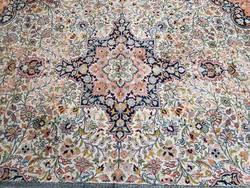 Kashmir selyem kézi csomózású szőnyeg