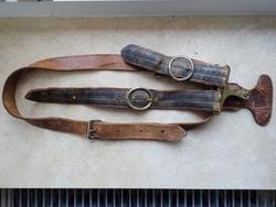 KuK karabineres tiszti kardcsatlék, övvel