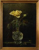 Régi olajfestmény, klasszikus virágcsendélet