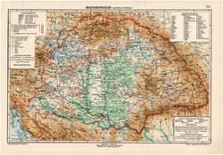 Magyarország politikai térkép 1907, eredeti, atlasz, Kogutowicz Manó, régi, magyar nyelvű