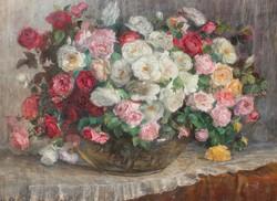 Kalicza Erzsébet: Pompás rózsacsokor
