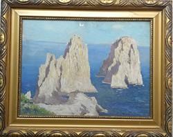 Radnay József: Sziklás tengerpart