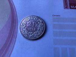 1914 ezüst 2 frank 10 gramm 0,835 Ritkább