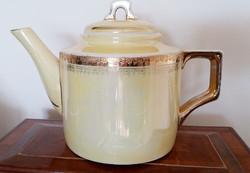 Zsolnay porcelán art deco teás kanna eozinos kiöntő