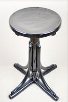 Zongoraszék 70 - 80 cm restaurált fekete állítható magasságú erős stabil bútor