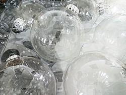Amerikai átlátszó üveg karácsonyfa díszek 8db