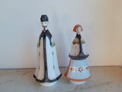 Aquincum porcelán alföldi matyó nő és férfi népviseletben