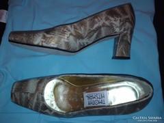 Antik kígyóbőr alkalmi cipő, elegáns vintage, valódi bőr, 26 cm