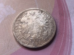 1889 ezüst 1 Florin 12,3 gramm 0,900 keresett érme ,ritkább