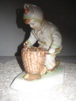 ZSOLNAY porcelán figua/jelzett/