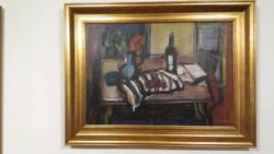 Csendélet - Alkotó: Gera Éva - ( Olaj - Farost ) - 60 x 80 cm.