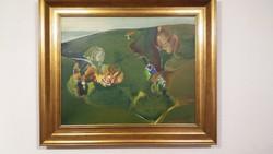 Táj - Alkotó: Mayer Berta - ( Olaj -Farost ) - 60 x 75 cm.