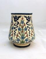 Korai Zsolnay váza virágfüzéres díszítéssel 1870'