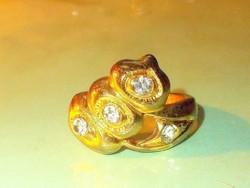 Egyedi köves 18k Arany b.tekintélyes gyűrű 8.5-es