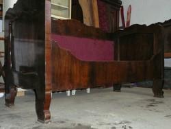 2 db gyönyörű, eredeti biedermeier ágykeret 1830 környékéről