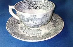 Antik, finn Arabia porcelán  teás csésze, tányérral