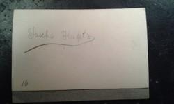 Jascha Heifetz autogram