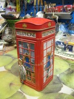 Persely Londoni telefonfülke persely újszerű hibátlan magassága 17 cm