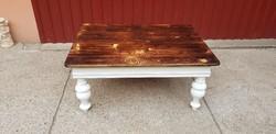Rusztikus contry cross dohányzóasztal (118,5*86 cm)